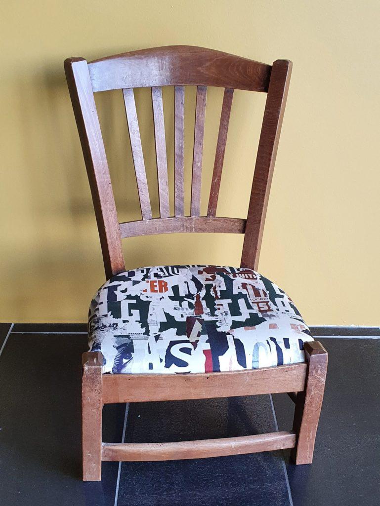Petite chaise de travail, tissu JP Gaultier